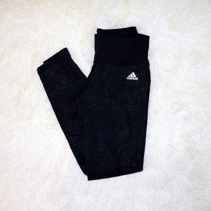 Adidas Black Floral Print Leggings